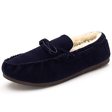 Damen-Loafers & Slip-Ons-Lässig-PU-Flacher Absatz-Komfort Mokassin-Schwarz Blau Gelb Rosa