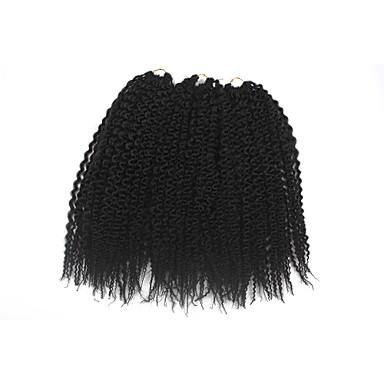 Torção da ilha 100% cabelo kanekalon Extensões de Cabelo Natural Tranças Crochet pré-laço Tranças de cabelo Diário