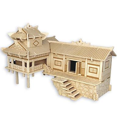 Puslespill i tre Kinesisk arkitektur Hus profesjonelt nivå Tre 1pcs Barne Gutt Gave