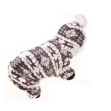 犬 パーカー ジャンプスーツ 犬用ウェア 高通気性 保温 スポーツ 花/植物 グレー コスチューム ペット用