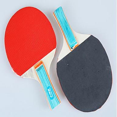 Table Tennismailat Ping Pang Puuta Pitkä kahva Näppylöitä Sisällä-#