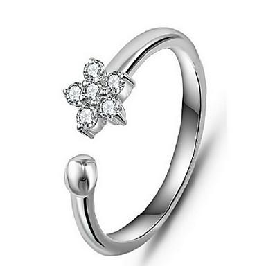 指輪 / 日常 カジュアル ジュエリー 合金 女性 バンドリング 指輪 1個,ワンサイズ シルバー