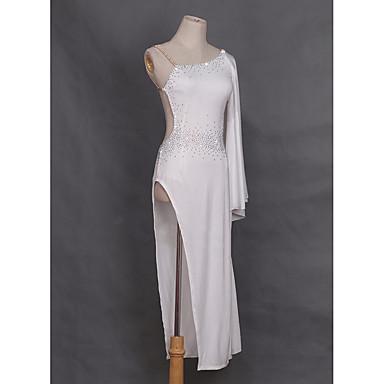 الرقص اللاتيني الفساتين للمرأة أداء ألياف الحليب حصى كم طويل ارتفاع متوسط فستان