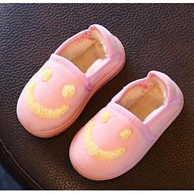 女の子 靴 フリース コンフォートシューズ ローファー&スリップアドオン 用途 カジュアル ブラック イエロー ピンク
