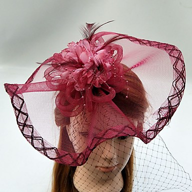 チュール羽ネット鳥かごベールヘッドピース古典的な女性的なスタイル