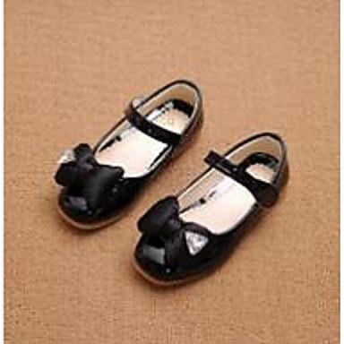 Tyttöjen kengät PU Comfort Tasapohjakengät Käyttötarkoitus Kausaliteetti Musta Punainen Pinkki