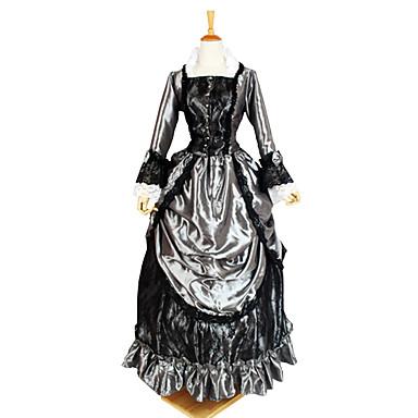 Gothic Lolita Viktoriaaninen Naisten Yksiosainen Mekot Cosplay Pitkähihainen