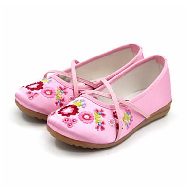 女の子 靴 シルク 春 秋 バレリーナ フラット フラットヒール ラウンドトウ 用途 カジュアル ピーチ レッド ピンク