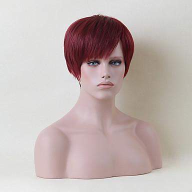 mukava lyhyt capless peruukit luonnollinen suorat hiuksista