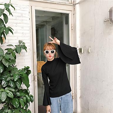 allekirjoittaa syksyn Korean pohjaamatta paita t-paita kaiutin hiha kohdalta hihna yksivärinen pitkähihainen t-paita naisten