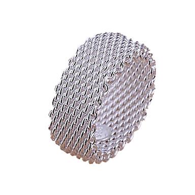 Damen Mehrschichtig Bandring - Sterling Silber, Silber Liebe Mehrlagig 6 / 7 / 8 / 9 Silber Für Hochzeit Party Geschenk