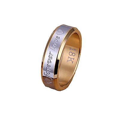 Herrn versilbert Bandring - Herz Gold / Silber Ring Für Weihnachts Geschenke / Party