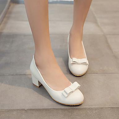 Borla Mujer Blanco Noche Negro Zapatos Dedo Cuadrado Fiesta y Casual redondo Otoño Primavera 05495831 para Semicuero Tacón Verano Tacones Cadena qPxrqwT