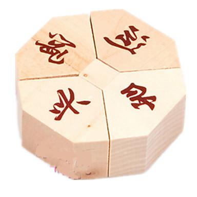 Holzpuzzle Rätselspiele Kong Ming Geduldspiel Spielzeuge Kreisförmig Intelligenztest Holz Mädchen Jungen 1 Stücke