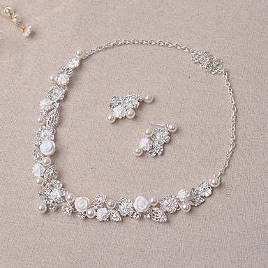 Damen Schmuckset Stilvoll Hochzeit Party Ohrringe Halsketten Modeschmuck
