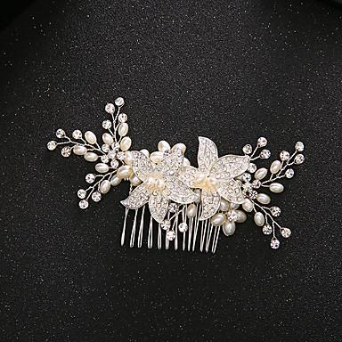 人造真珠 合金 - ヘアコンビ 1 結婚式 パーティー カジュアル かぶと