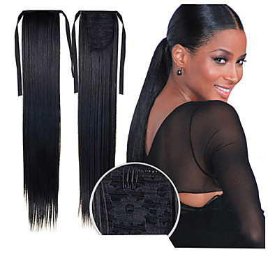 Synthetic Hair Hair Extension Straight Clip In / On Halloween / Masquerade Party / Synthetic Male Ponytails