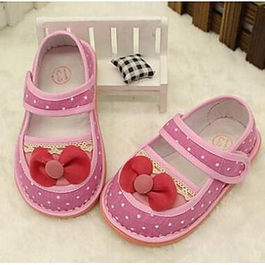 キッズ 女の子 赤ちゃん 靴 キャンバス コンフォートシューズ フラット 用途 カジュアル レッド ピンク