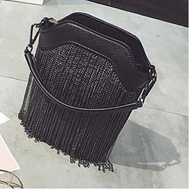 Damen Taschen Ganzjährig PU Umhängetasche mit für Normal Gold Schwarz Grau