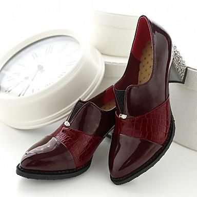 Femme Marche Cuir Bout Verni Eté Confort Similicuir Printemps Points Oxfords 05483675 Bottier Automne Chaussures Talon Nouveauté pointu xnvOwx