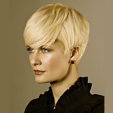 女性のための短い自然の波の人間の髪の毛のかつら