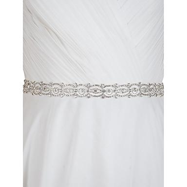 Satin Hochzeit Party / Abend Alltagskleidung Schärpe With Strass Damen Schärpen