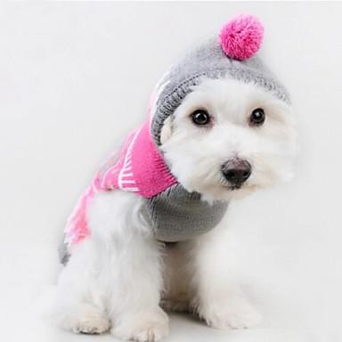 Кошка Собака Свитера Толстовки Одежда для собак Очаровательный На каждый день Цветовые блоки Розовый