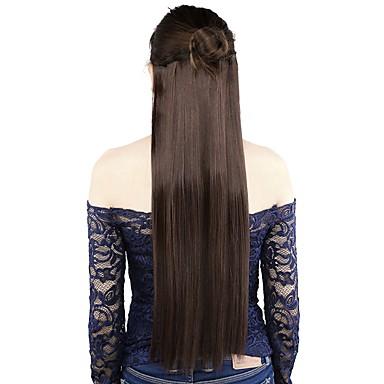 Clip In synteettinen Hiuspidennykset 120G/SET 22inch Hiusten pidennys