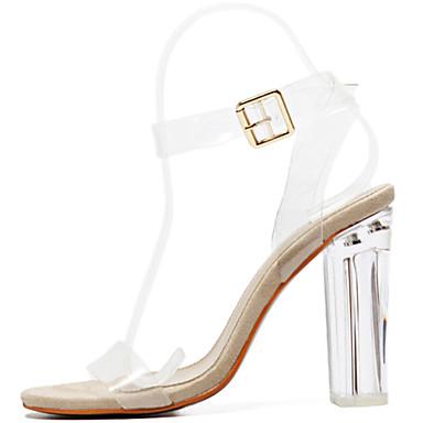 Heel Confort Marche Gomme 05509650 Printemps Femme Block Sandales ouvert Talon Talon Bottier translucide Eté Nouveauté Bout Chaussures qI5CO