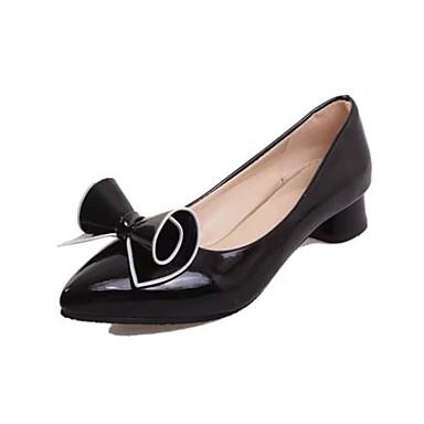Mujer Zapatos PU Verano Confort Sandalias Tacón Cuadrado Dedo Puntiagudo Pajarita Blanco / Negro / Rojo / A Rayas Footlocker À Vendre Finishline smCpxX