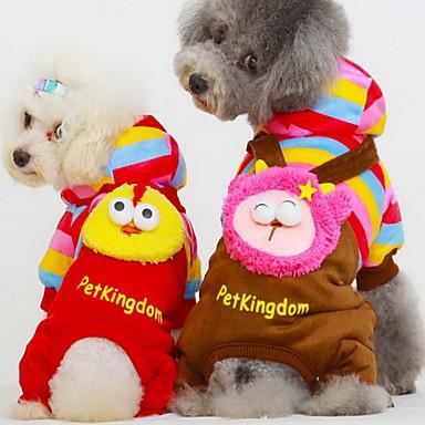 Hund Mäntel Hundekleidung Cartoon Design Rot / Blau / Rosa Baumwolle Kostüm Für Haustiere Herrn / Damen