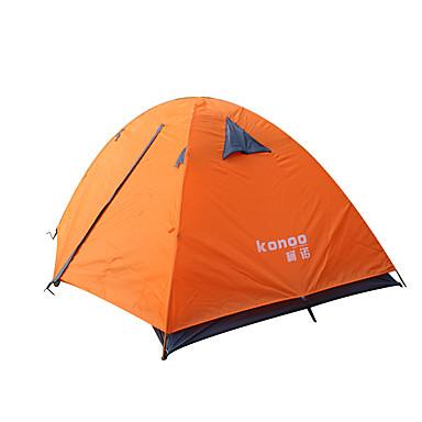 2 henkilöä Teltta Kaksinkertainen teltta Yksi huone Vedenkestävä Kannettava Erikoiskevyt(UL) Tuulenkestävä Pölynkestävä Taiteltava