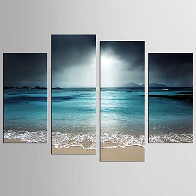 abordables Toiles-Imprimé Impressions sur toile roulées - Paysage Fantaisie Réalisme Moderne Quatre Panneaux Art Prints