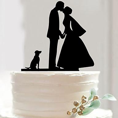 Cumpleaños / San Valentín / Fiesta de Boda Acrílico Material Mixto Decoraciones de la boda Tema Clásico Invierno Primavera Verano Otoño
