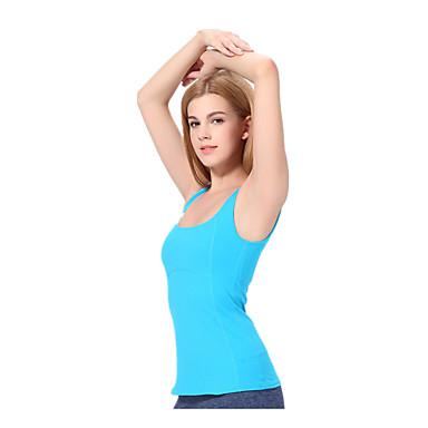 Yokaland Dame Scoop Neck Yoga Top - Himmelblå sport Topper Yoga & Danse Sko, Pilates, Trening & Fitness Ermeløs Sportsklær Fort Tørring,