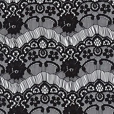Schwarz Weiß Spitze Damen Tie Bar-