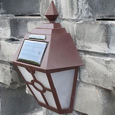 billige Utendørsbelysning-retro ledet solens lys utendørs hage Solar LED vegglampe vanntett pathway Solar LED gatelys gjerde takterrasse belysning