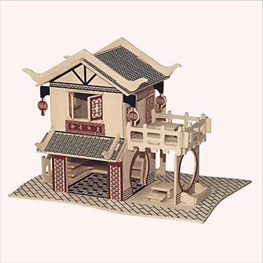 Puslespill i tre Kjent bygning Kinesisk arkitektur Hus profesjonelt nivå Tre 1pcs Gutt Gave