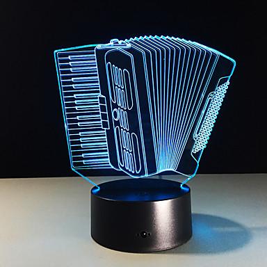 1 pieza Luz nocturna 3D Tamaño Compacto / Color variable Artístico / Moderno / Contemporáneo