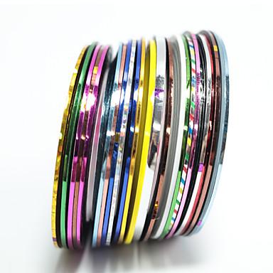 20 pcs Folie-klistremerke Børstet metall / Ultratynn / Nail Decals Nail Art Design