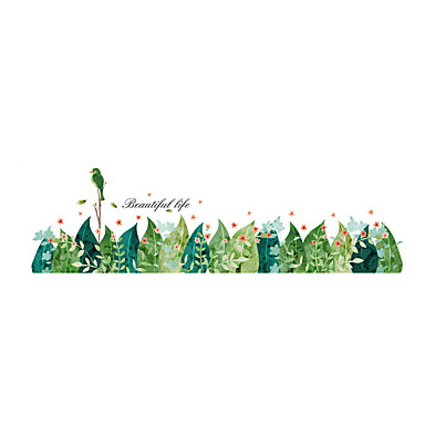 Eläimet Kukkakuviot Kasvitiede Wall Tarrat Lentokone-seinätarrat Koriste-seinätarrat, Vinyyli Kodinsisustus Seinätarra Seinä Lasi / WC