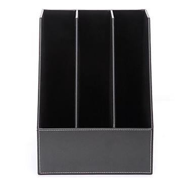 Sortierboxen,Echtes Leder Desktop-Organizer