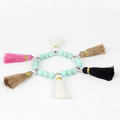 voordelige Armband-Dames Strand Armbanden Edelsteen Agaat Wit Blauw Licht Groen Sieraden Voor Causaal 1 stuks