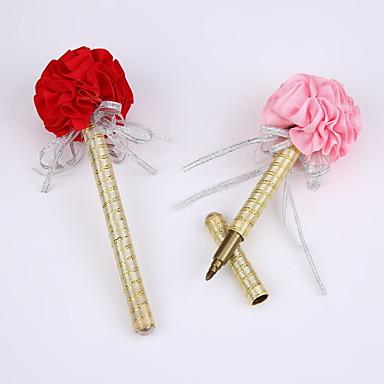 新しいリボン純粋な手作りの結婚式のパーティー署名ペンマーカーペン(リフィル金)