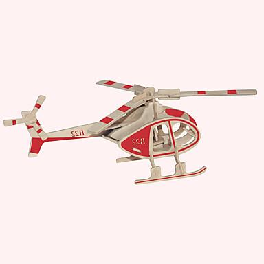 voordelige 3D-puzzels-Houten puzzels Vliegtuig Beroemd gebouw Chinese architectuur professioneel niveau Puinen 1 pcs Helikopter Kinderen Jongens Meisjes Speeltjes Geschenk
