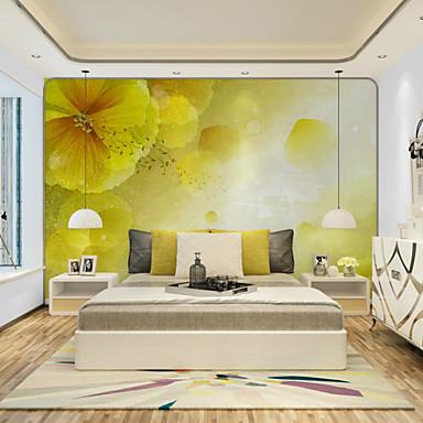 Floral Art Deco 3D Taustakuva Kotiin Nykyaikainen Seinäpinnat , Kanvaasi materiaali liima tarvitaan Seinämaalaus , huoneen Tapetit