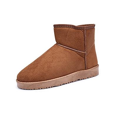 Bootsit-Tasapohja-Naisten-Fleece-Musta Keltainen Harmaa Alaston-Rento-Comfort