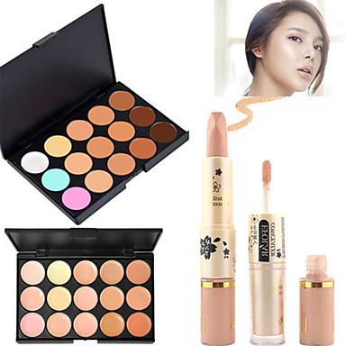 15 farger Concealer Kaki Concealer / Contour Tørr / Våt / Kombinasjon Pustende / Bleking / Fort Tørring Krop / Ansikt Sminke kosmetisk