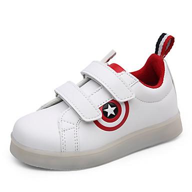 Mädchen Schuhe Künstliche Mikrofaser Polyurethan Herbst Winter Leuchtende LED-Schuhe Komfort Sneakers Klettverschluss für Normal Draussen