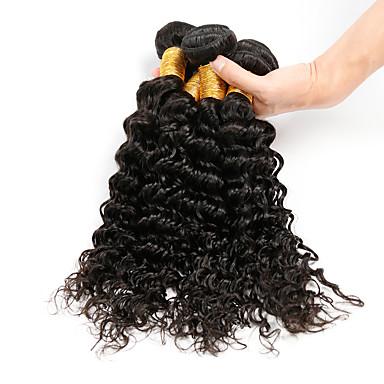 4 Stück Wogende Wellen Menschliches Haar Webarten Brasilianisches Haar 400g 8